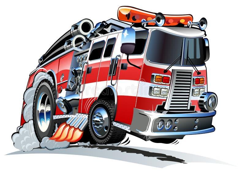 Κινούμενα σχέδια firetruck ελεύθερη απεικόνιση δικαιώματος