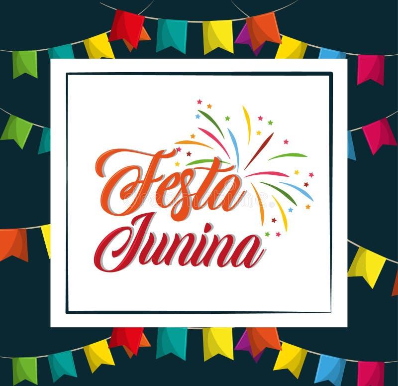 Κινούμενα σχέδια junina Festa ελεύθερη απεικόνιση δικαιώματος