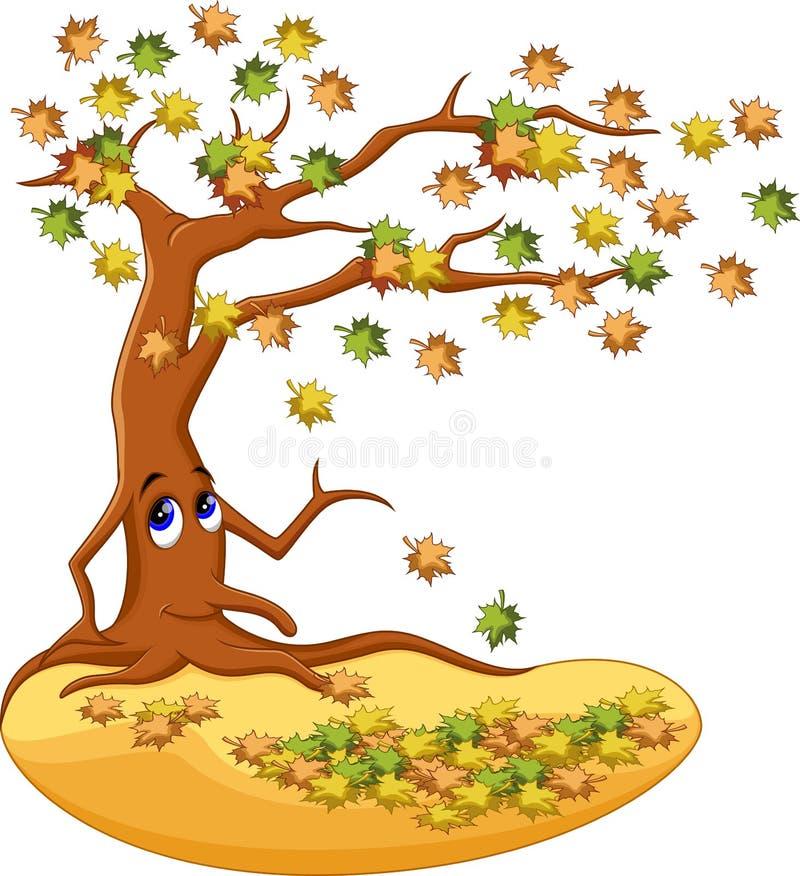 Κινούμενα σχέδια δέντρων φθινοπώρου ελεύθερη απεικόνιση δικαιώματος