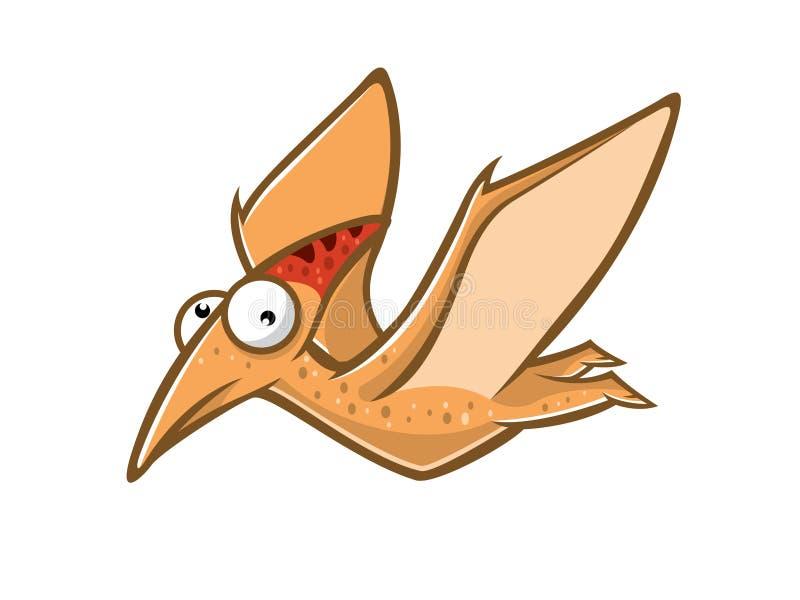 Κινούμενα σχέδια αστείο Pteranodon απεικόνιση αποθεμάτων