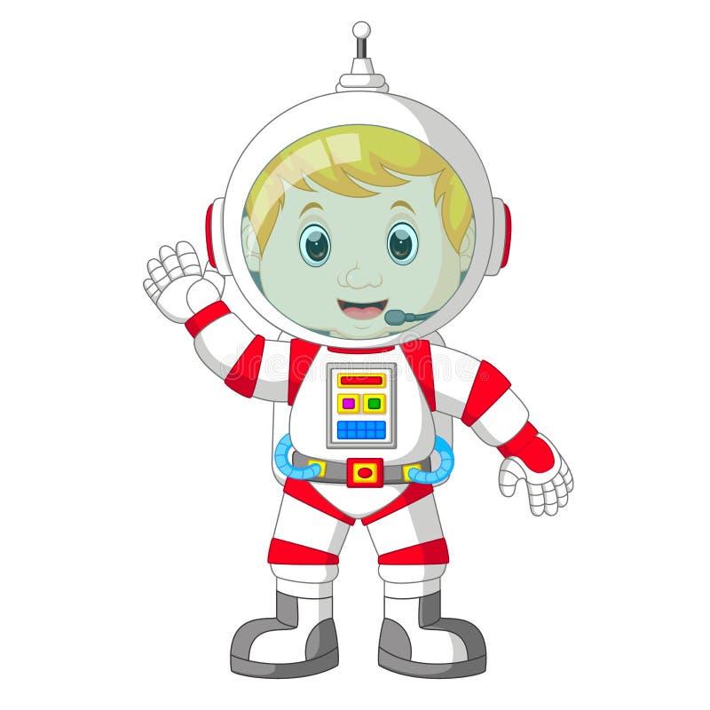 Κινούμενα σχέδια αστροναυτών ελεύθερη απεικόνιση δικαιώματος