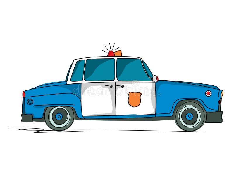 Κινούμενα σχέδια περιπολικών της Αστυνομίας απεικόνιση αποθεμάτων