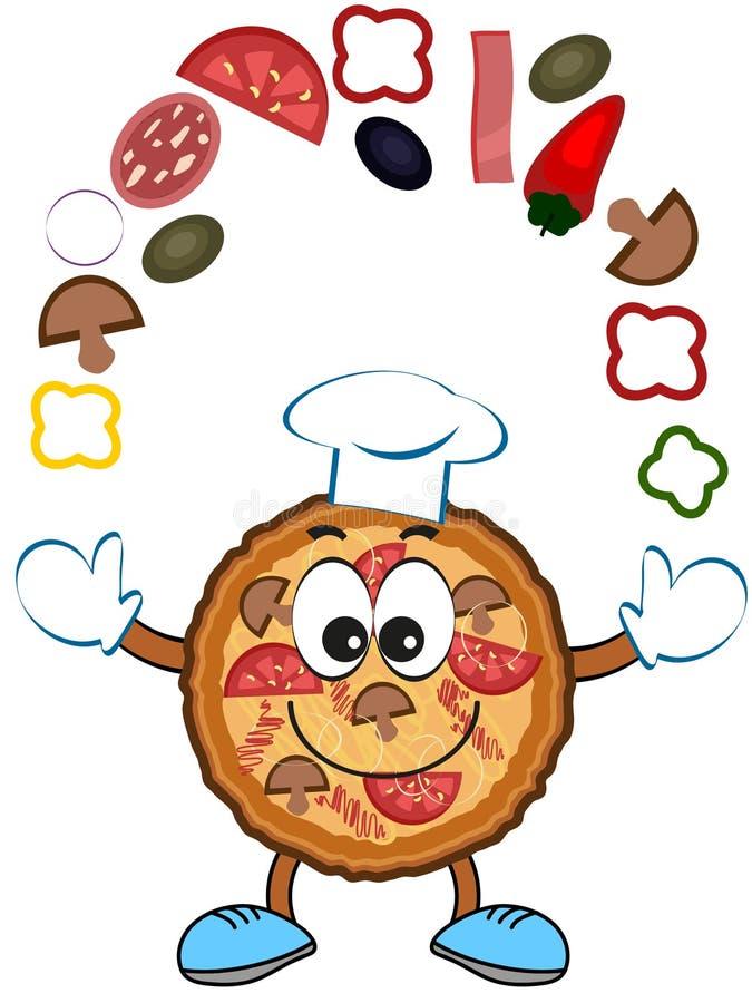 Κινούμενα σχέδια πιτσών απεικόνιση αποθεμάτων