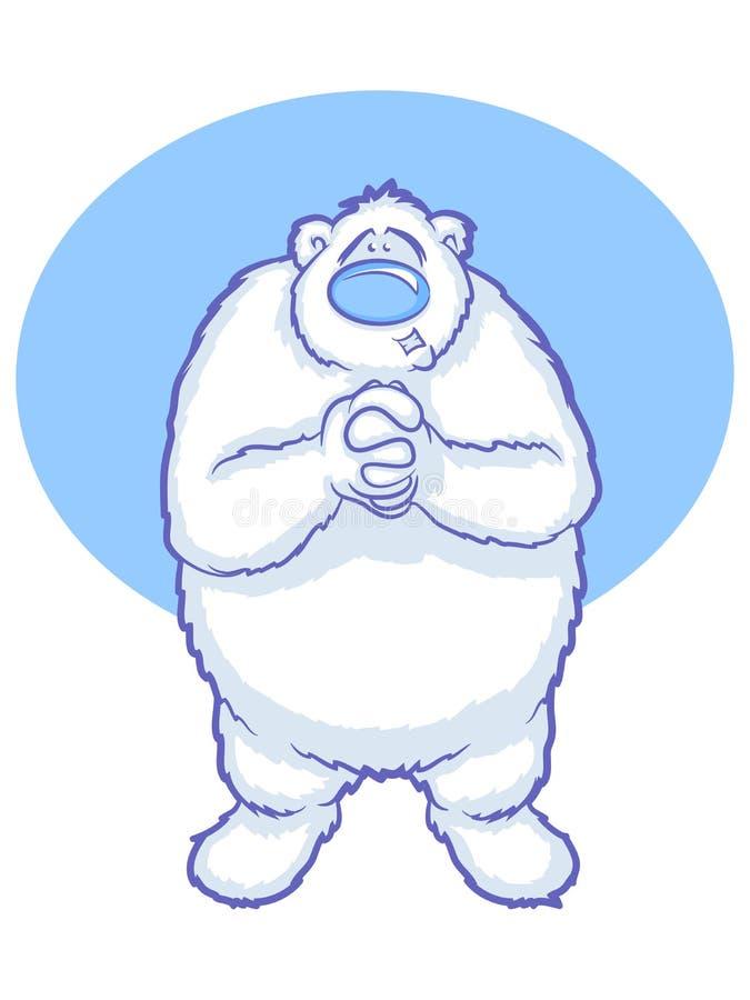 Κινούμενα σχέδια πολικών αρκουδών ελεύθερη απεικόνιση δικαιώματος
