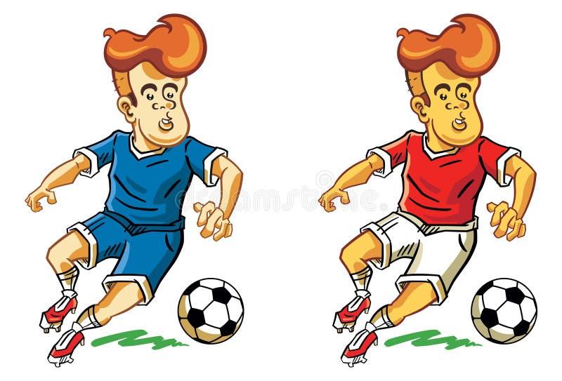 Κινούμενα σχέδια ποδοσφαίρου στοκ εικόνα με δικαίωμα ελεύθερης χρήσης