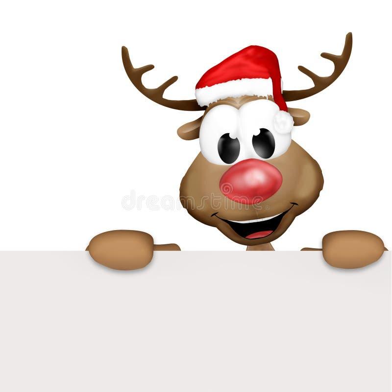 Κινούμενα σχέδια ταράνδων Χριστουγέννων ελεύθερη απεικόνιση δικαιώματος