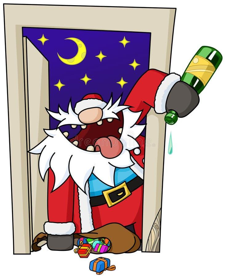 Κινούμενα σχέδια Χριστουγέννων κόμματος, πόρτα απεικόνιση αποθεμάτων