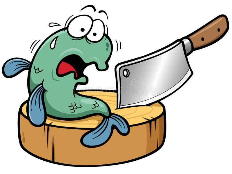 Κινούμενα σχέδια ψαριών ελεύθερη απεικόνιση δικαιώματος