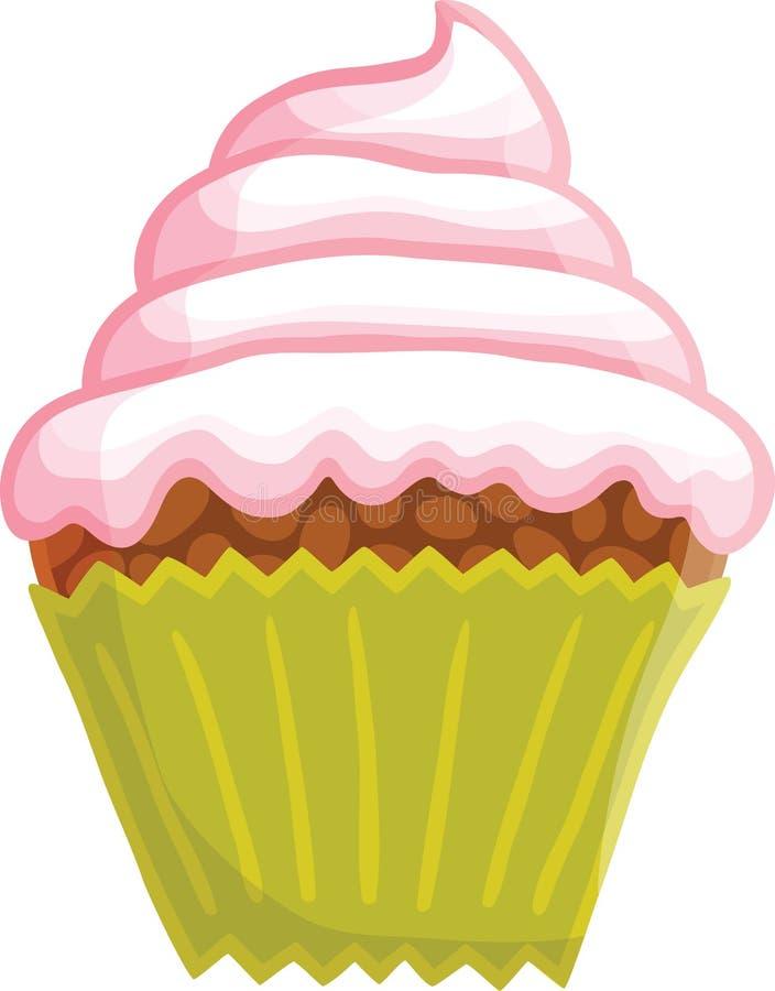 Κινούμενα σχέδια cupcake ελεύθερη απεικόνιση δικαιώματος