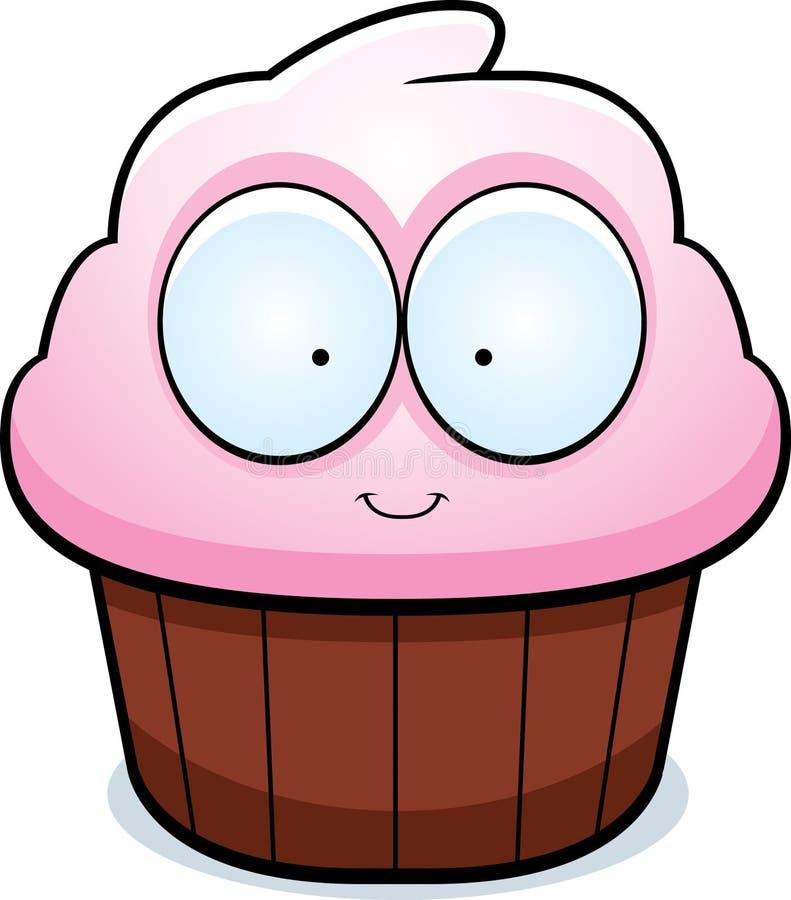 κινούμενα σχέδια cupcake απεικόνιση αποθεμάτων
