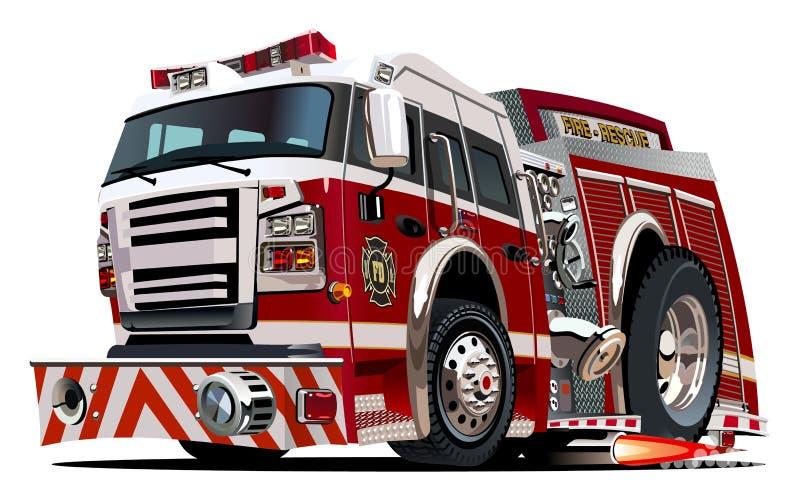 Κινούμενα σχέδια firetruck διανυσματική απεικόνιση