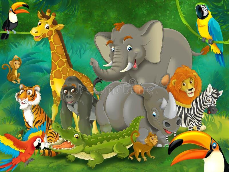 Κινούμενα σχέδια junge - απεικόνιση για τα παιδιά διανυσματική απεικόνιση