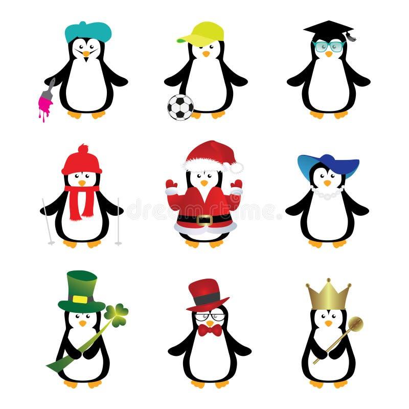 Download Κινούμενα σχέδια Penguins διανυσματική απεικόνιση. εικονογραφία από τριφύλλι - 62701034