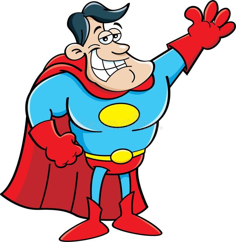 Κινούμενα σχέδια Superhero διανυσματική απεικόνιση