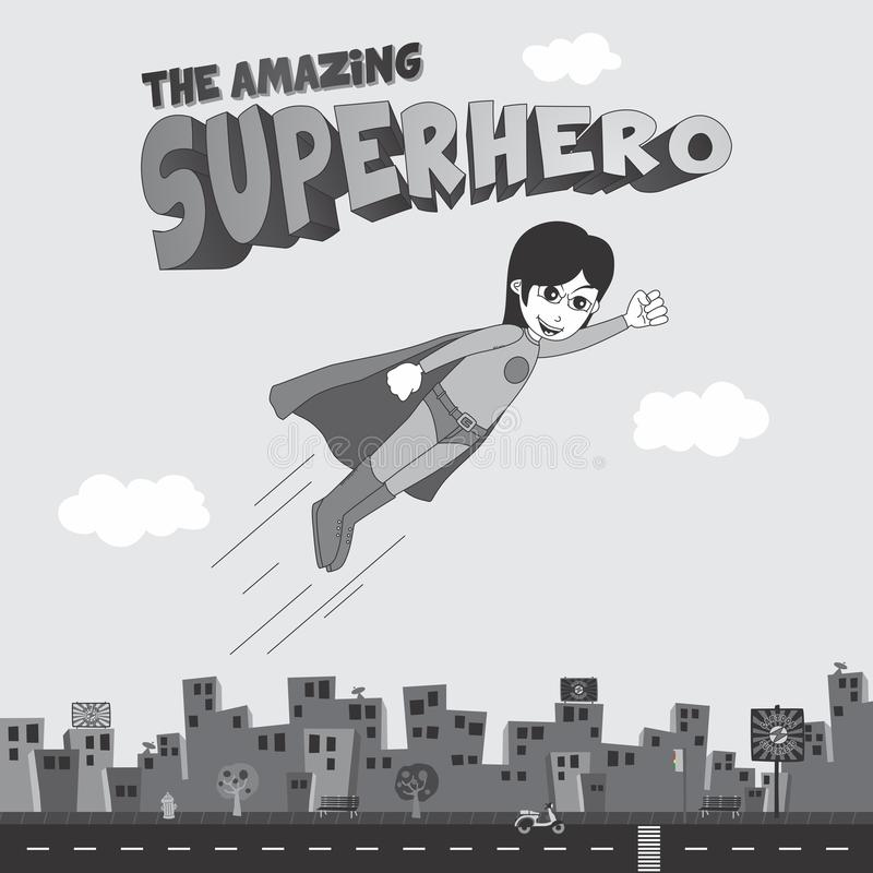 Download Κινούμενα σχέδια Superhero απεικόνιση αποθεμάτων. εικονογραφία από ισχυρός - 62709410