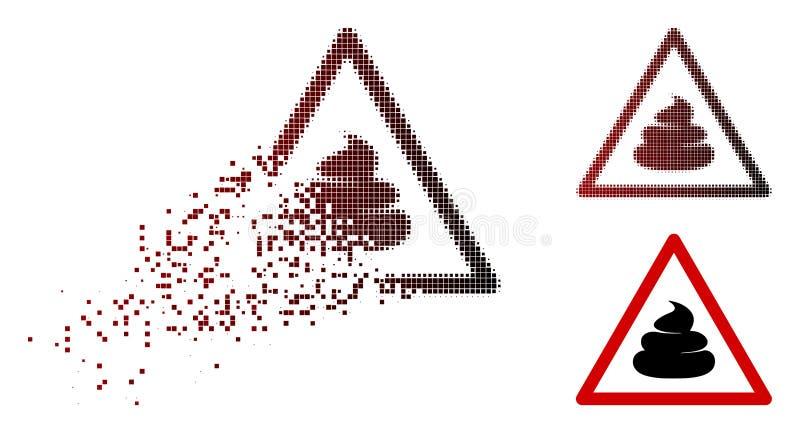 Κινούμενο εικονίδιο προειδοποίησης Pixelated ημίτονο Shit διανυσματική απεικόνιση