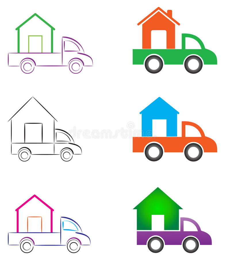 Κινούμενο σπίτι διανυσματική απεικόνιση