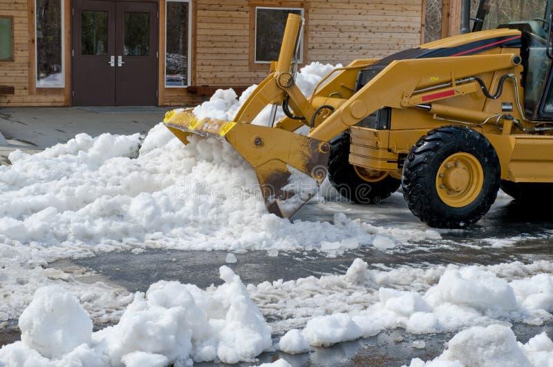 κινούμενο χιόνι φορτωτών τ&epsil στοκ εικόνα με δικαίωμα ελεύθερης χρήσης
