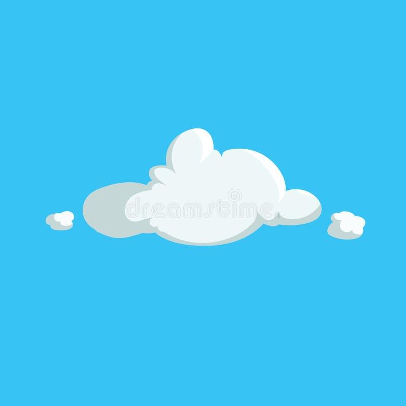 Κινούμενων σχεδίων χαριτωμένο εικονίδιο σχεδίου σύννεφων καθιερώνον τη μόδα Διανυσματική απεικόνιση του καιρού ή του υποβάθρου ου απεικόνιση αποθεμάτων