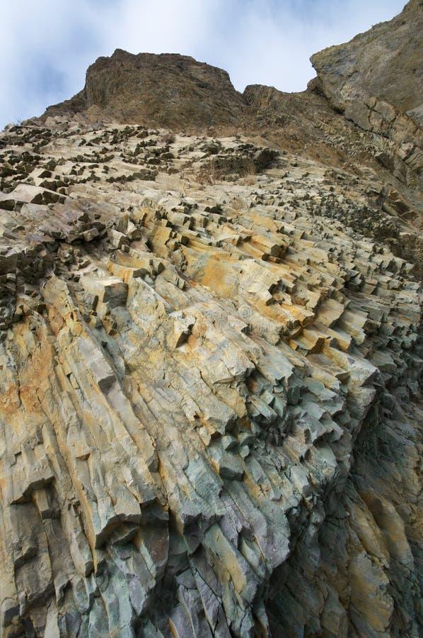Κιονοειδής ενωμένος βράχος στοκ εικόνες
