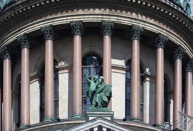 Κιονοστοιχία του καθεδρικού ναού του Isaac ` s στοκ εικόνες