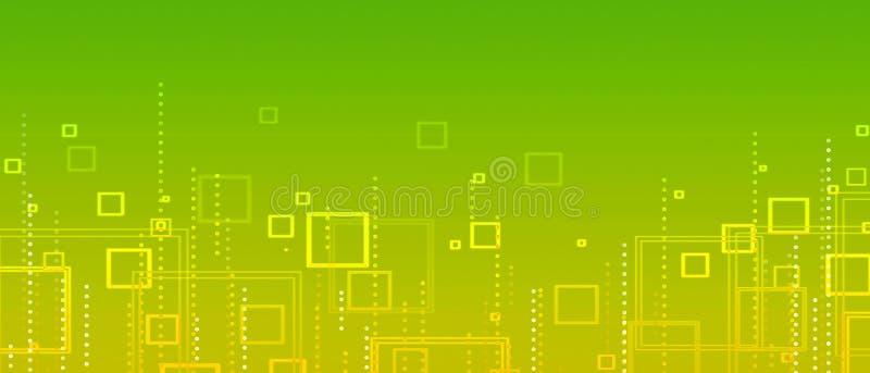 Κιτρινοπράσινη αφηρημένη ανασκόπηση των τετραγώνων απεικόνιση αποθεμάτων