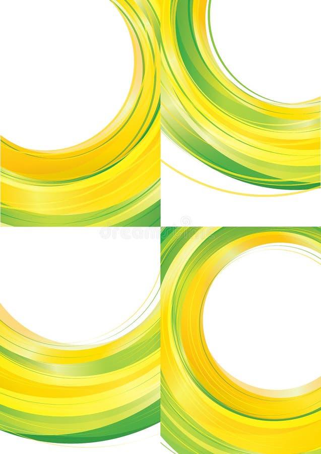 Κιτρινοπράσινο διάνυσμα υποβάθρου ελεύθερη απεικόνιση δικαιώματος
