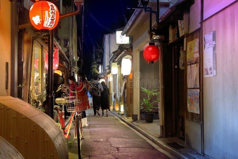 Κιότο - Pontocho στοκ φωτογραφίες