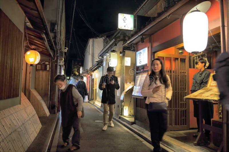 Κιότο - Pontocho στοκ εικόνες με δικαίωμα ελεύθερης χρήσης