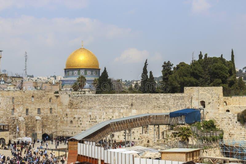 Κλάμα του τοίχου στην Ιερουσαλήμ στοκ εικόνες με δικαίωμα ελεύθερης χρήσης