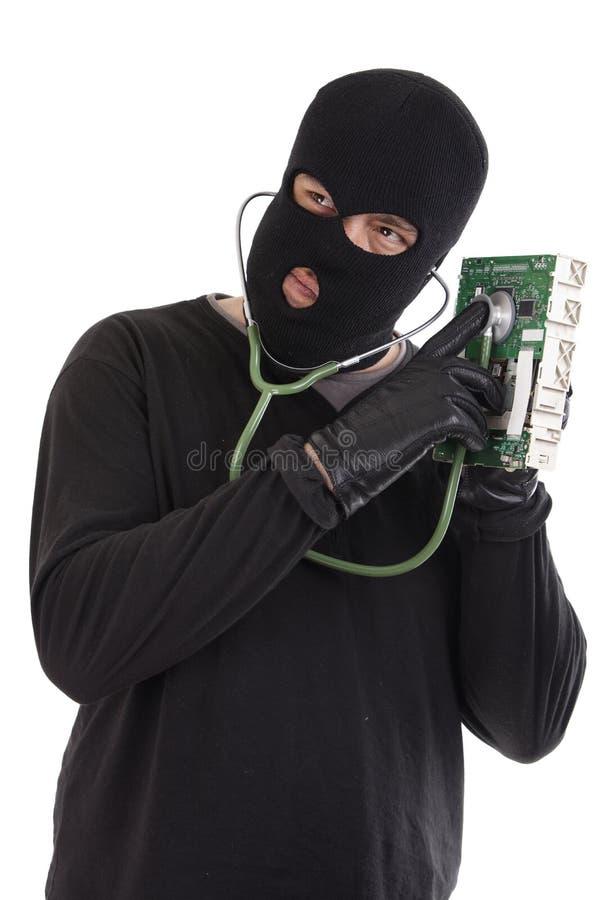κλέφτης πληροφορικής στοκ εικόνα