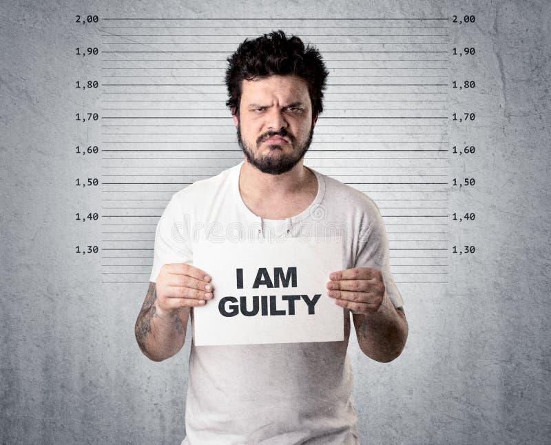 Κλέφτης στη φυλακή στοκ εικόνα με δικαίωμα ελεύθερης χρήσης