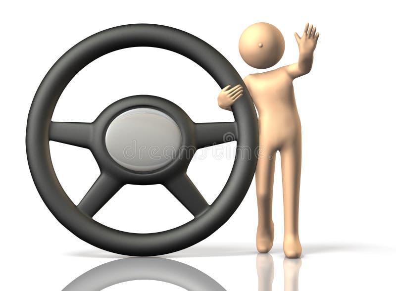 Κλήσεις οδηγών για την ασφαλή οδήγηση. ελεύθερη απεικόνιση δικαιώματος