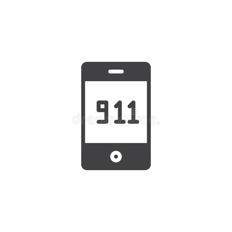 Κλήση έκτακτης ανάγκης 911 διάνυσμα εικονιδίων ελεύθερη απεικόνιση δικαιώματος