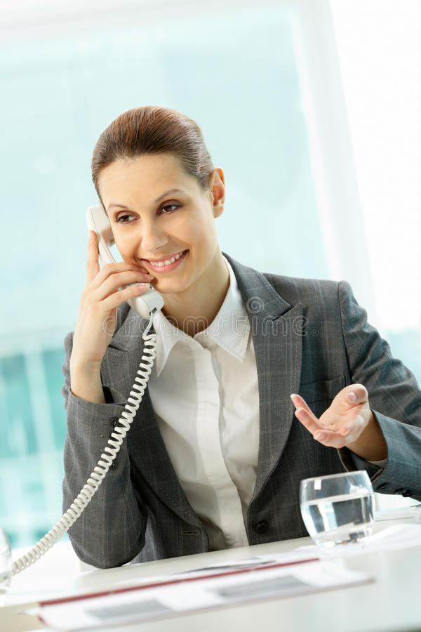 κλήση της γυναίκας στοκ φωτογραφία