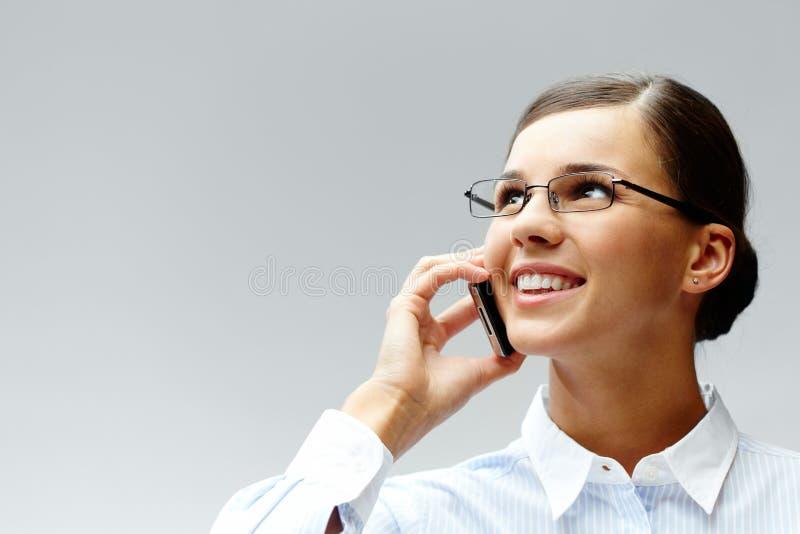 κλήση brunette στοκ εικόνες με δικαίωμα ελεύθερης χρήσης