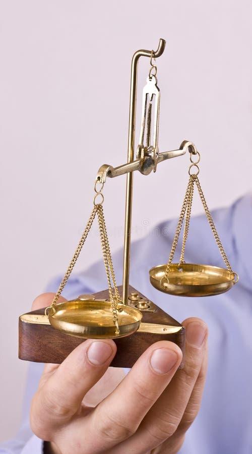 κλίμακα δικαιοσύνης στοκ εικόνες
