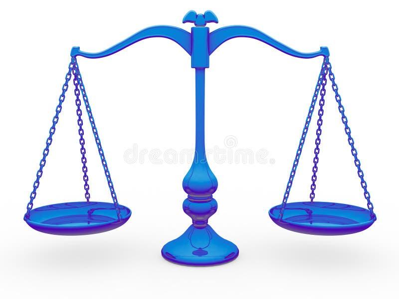 κλίμακα ισορροπίας απεικόνιση αποθεμάτων