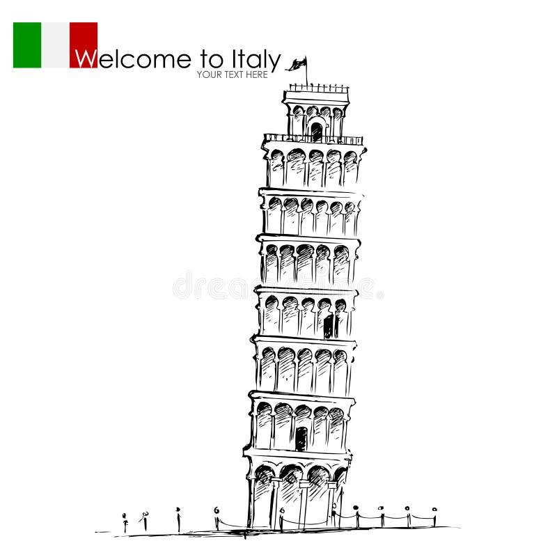 Κλίνοντας πύργος της Πίζας ελεύθερη απεικόνιση δικαιώματος