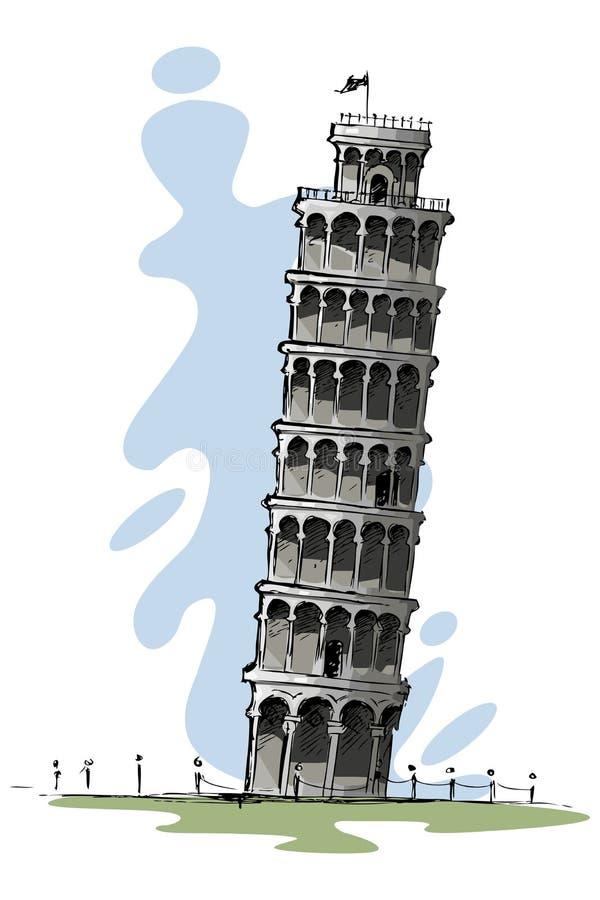 κλίνοντας πύργος ελεύθερη απεικόνιση δικαιώματος