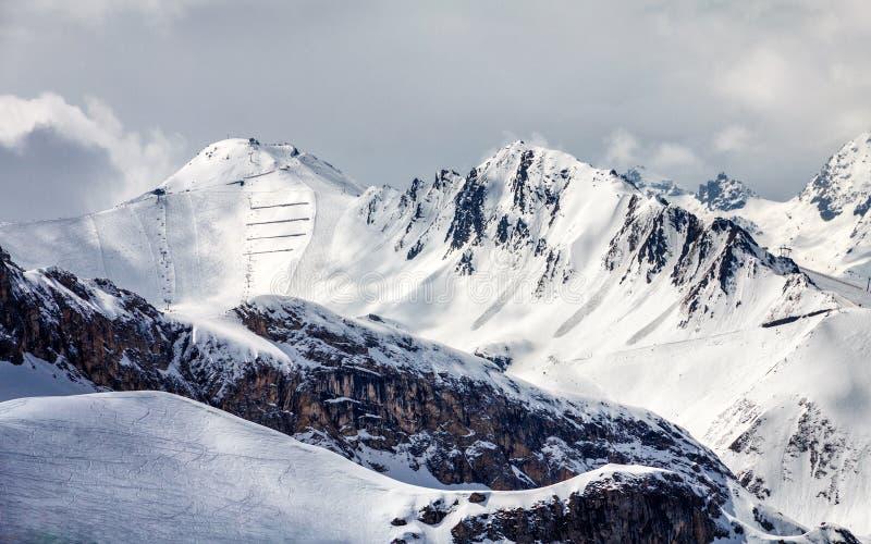 Κλίσεις σκι σε Ischgl στοκ φωτογραφίες