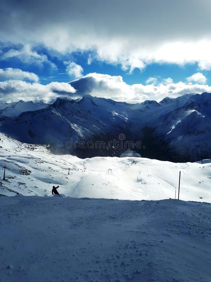 Κλίση σκι σε Hintertux στοκ εικόνες
