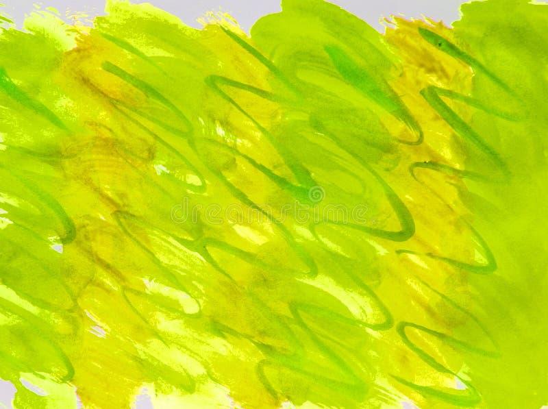 Κλίση χλόης θερινού υποβάθρου ράστερ Watercolor κίτρινη, πράσινη με τις ραβδώσεις των ομαλών γραμμών για το σχεδιάγραμμα και το σ στοκ εικόνες με δικαίωμα ελεύθερης χρήσης