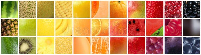 Κλίση χρώματος που διαμορφώνεται από τα διαφορετικά φρούτα στοκ φωτογραφίες