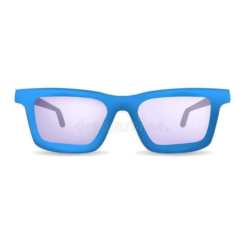 Κλασικά γυαλιά για το πρότυπο ματιών, ρεαλιστικό ύφος ελεύθερη απεικόνιση δικαιώματος