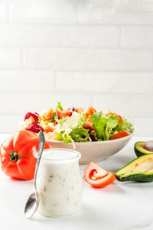 Κλασικές σάλτσες σαλάτας στοκ φωτογραφίες με δικαίωμα ελεύθερης χρήσης