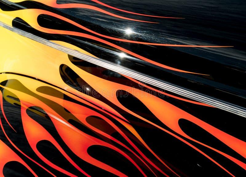 Κλασικές φλόγες αυτοκινήτων στοκ εικόνες