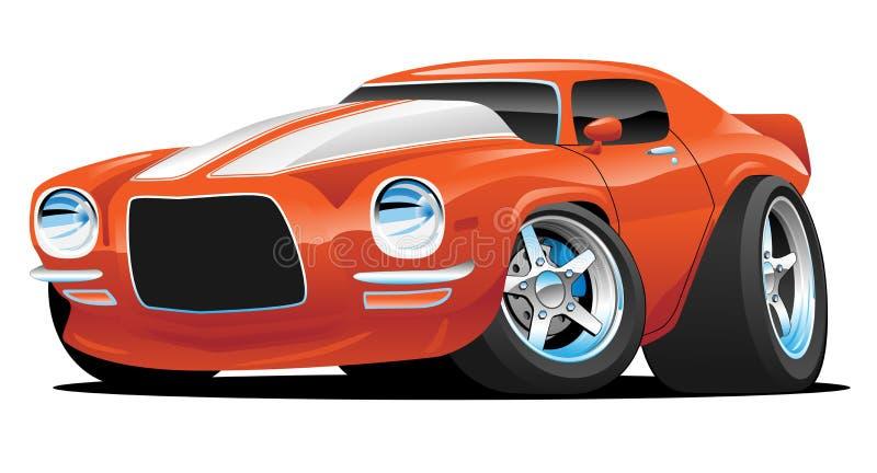 Κλασική απεικόνιση κινούμενων σχεδίων αυτοκινήτων μυών ελεύθερη απεικόνιση δικαιώματος