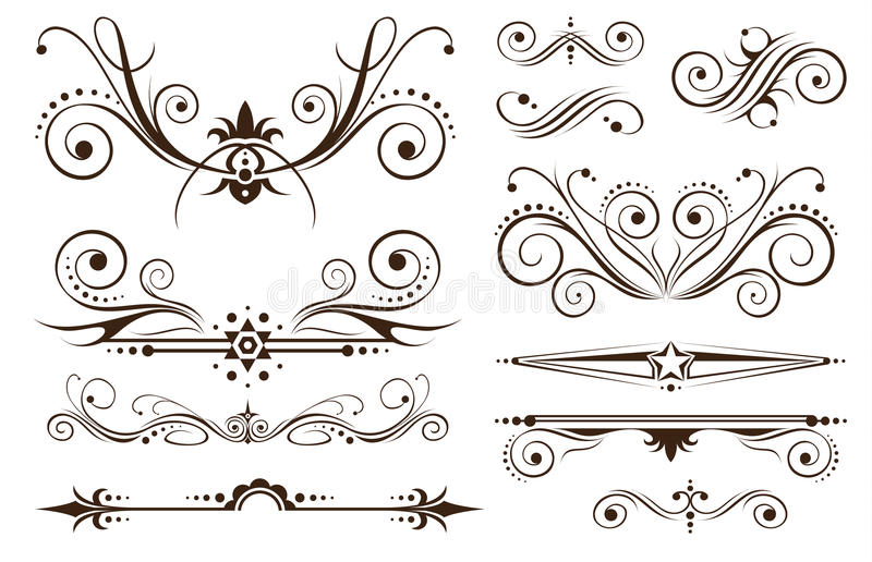 κλασική διακόσμηση σχεδί απεικόνιση αποθεμάτων
