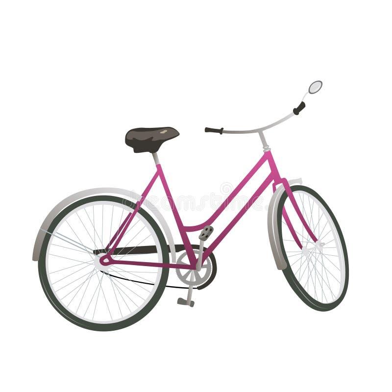 Κλασική εικόνα απομονωμένου διανύσματος ποδηλάτου πόλης στοκ φωτογραφία με δικαίωμα ελεύθερης χρήσης
